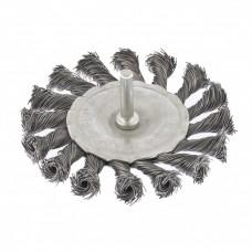 Щетка для дрели, 75 мм, плоская со шпилькой, крученая металлическая проволока MATRIX