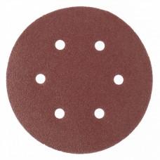 """Круг абразивный на ворсовой подложке под """"липучку"""", перфорированный, P 150, 150 мм, 5 шт.// Matrix"""
