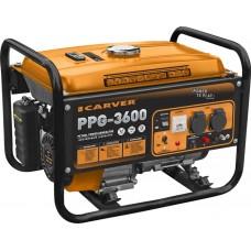 Генератор бенз. CARVER PPG-3600 (LT-168F-1, 2,5/2,8 кВт, 220В, бак 15л., обмотка медь)